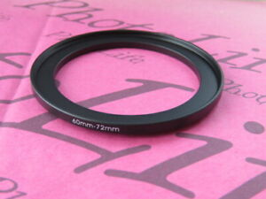 60mm to 72mm Stepping Step Up Filter Ring Adapter 60mm-72mm