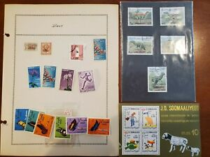 Somalia Somaliland, Small collection on pages and loose!