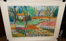"Suzanne Regan Pascal ""Artist's Retreat"" Limited Edition and signed Serigraph coa"