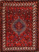 Excellent Nomadic Tribal Red 3x5 Wool Abadeh Oriental Area Rug Medallion Carpet