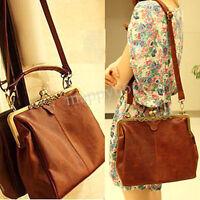 Retro Vintage Shoulder Handbag Women Leather Tote Purse Crossbody Satchel Bags