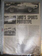 Ford's Sports Prototype * aus der Zeitschrift Autocar vom 21. März 1968*englisch