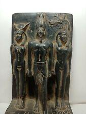 Rare Antique Ancient Egyptian Statue King Menkaure Gods Isis Amun Hathor 2450 Bc