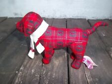Victoria Secret Red and Black Plush Dog with White Scarf, 2005 Collectible