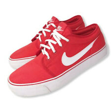 Nike Men's Red & White Shoes Lace-up Shoes Red/White Size 7.5