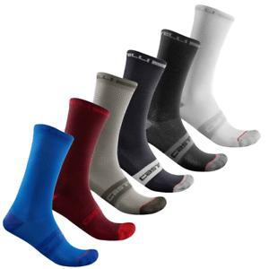 6 pairs castelli  superleggera cycling socks