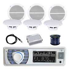 Pyle Receiver Stereo w/Marine SPKR, Pyle Amplifier, Enrock Antenna & SPKR Wire