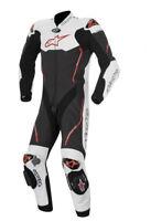 Tuta intera moto Alpinestars CE Protection in pelle bianca / rossa