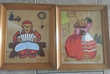 Whimsical Pantry Swedish Folk Paintings Watercolors Circa 1930's Yvonne Kehew