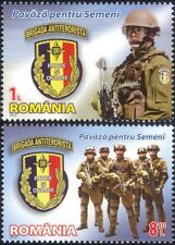 Rumania 2012 Soldados Ejército Militar///Armas/Rifles/armas 2v Set (n44679)