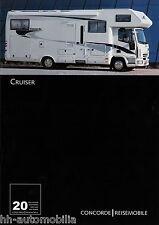 Prospekt Concorde Cruiser 9/03 Reisemobil Wohnmobil 2003 price list motor home