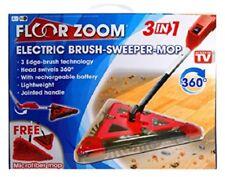 3 in 1 Spazzola elettrica Sweeper Straccio pavimento Zoom 3 Edge Pennello tecnologia ROSSO NUOVA
