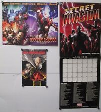 3 Marvel Poster Calendar The Heroic Age Iron Man One Punch Secret Invasion Cable
