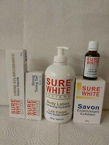 Sure White Supreme Lightening  Body Lotion 500ml, Serum, Soap, Gel and Cream