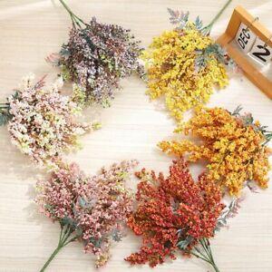 Artificial Lavender Flowers Cheap Wheat Fake Plants Bouquet Autumn Crafts