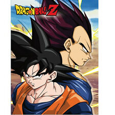 NEW Great Eastern GE-57677 Dragon Ball Z - Goku & Vegeta Sublimation Blanket