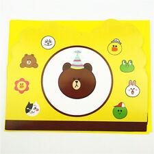 Cute Bear Frog Rabbit Animals Birthday Party Invitations W/ Envelopes 6 pcs Kids