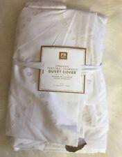 Pottery Barn Teen Organic Texturial Diamond Duvet Cover Twin  White Ivory