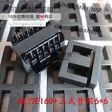 2set EI60 6+6pins Ferrite Cores bobbin,transformer core,inductor coil #Q1328 ZX