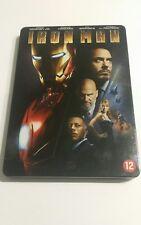 RARE 2008 MARVEL IRON MAN STEELBOOK DVD, Dutch Case English Movie