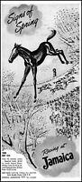1951 Horse Racing Jamaica Track Brooklyn New York vintage art print ad ads81