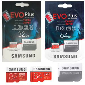 Samsung 32GB, 64GB Micro SD Card Memory card TF Flash For NEXTBASE DASH Camera