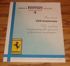 Original 1957 Ferrari 250 Granturismo Foldout Sales Brochure 57 English