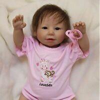 20inch Reborn Baby Puppe Handgefertigte Silikon Vinyl Lifelike Dolls Geschenk
