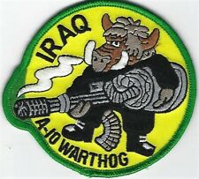 USAF A-10 WART PATCH-       'IRAQ'                                         COLOR
