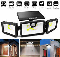 1800LM Solar Security Wall Lights Outdoor LED Motion Sensor Waterproof 3Modes CN