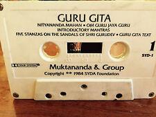 Guru Gita Muktananda and Group RARE CASSETTE INDIA 1984 Chanting Spiritual G+
