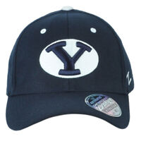 NCAA Zephyr Brigham Young Cougars Flex Fit Stretch Medium Large M/L Navy Hat Cap