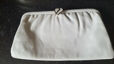 Vintage Jane Shilton Grey Leather Clutch Bag
