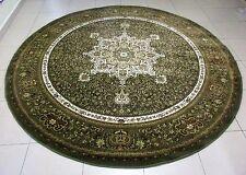 NEW BIG SIZE GREEN TRADITIONAL PERSIAN DESIGN HEATSET ROUND FLOOR RUG 240X240CM