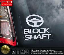 Adesivi Sticker Auto Antifurto BLOCK SHAFT Tuning Camper Tir Furgone Gps Truck