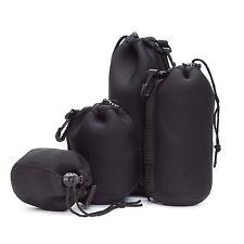 4Pcs Neoprene DSLR Camera Lens Cover Soft Protector Pouch Bag Case Set S M L XL