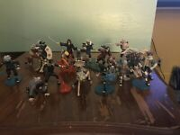 Naruto Mini Figures Lot Of 18 2002 MK w/ Accessories Base Parts Free Shipping