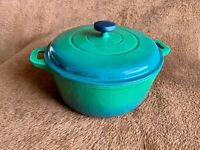 Tramontina Dutch Oven Cast Iron 6 Qt Cooking Pot Green Enamel  With Lid