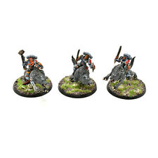 SPACE WOLVES 3 thunderwolf cavalry #1 WELL PAINTED Warhammer 40K