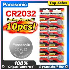 10pcs Original Panasonic Cr2032 2032 3v High-performance Button Batteries Free