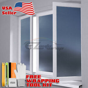 【Frosted Film】 Gray Glass Home Bathroom Window Security Privacy Sticker Sheet