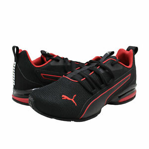 Men's Shoes PUMA AXELION NXT Athletic Running Sneakers 19565601 BLACK / RED