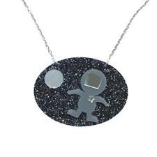Acrylique Spaceman Collier Par Amour Boutique Étrange Paillettes Espace Stars