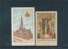 2 Heiligenbilder aus Linz, Herz Jesu- Kirche und Empfängnisdom    (C40)