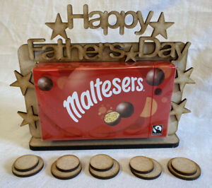 BI25 Fathers Day Malteasers Treat Gift Box Stand. Inc 10 MDF Circles. Craft Gift