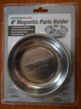 """4"""" Round Magnetic Bowl Tray Tool Screw Parts Holder Stainless Steel Organizer"""