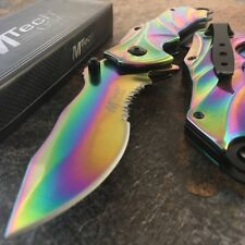 """8.75"""" MTECH RAINBOW SPRING ASSISTED FOLDING KNIFE Blade Pocket Tactical Open"""