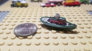 Micro Machines Galoob Tug Boat - 1987 - Gray / Green / Maroon
