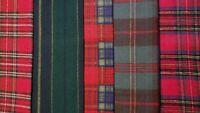 Christmas Red Green Primitive Tartan Plaid Flannel Doll Vintage Fabric Scraps