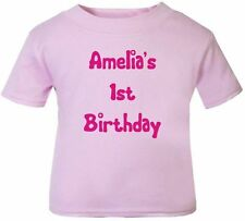 Baby Girls' Personalised T-Shirts 0-24 Months